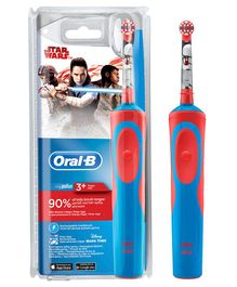 Oral-B Kids Electric Rechargeable Star War Toothbrush - Red & Blue
