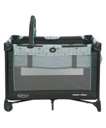 Graco Pack & Play On the Go Playbase Fletcher - Black  Blue