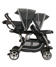 Graco Ready2Grow Click Connect LX Double Stroller Glacier - Black