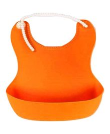 Babymoon Silicone Baby Bibs Set of 2 - Orange & Purple