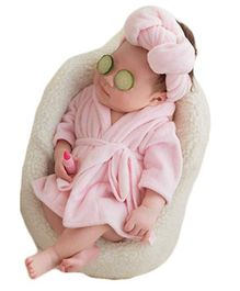 Babymoon New Born Photography Prop Costume Pink - Set Of 2