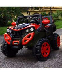 GetBest 12V Battery Operated Ride On Jeep - Red Black