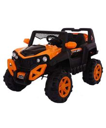 GetBest 12 V Battery Operated Ride On Jeep - Orange Black