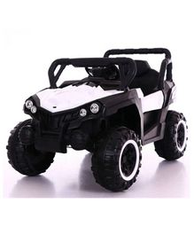 GetBest 12V Battery Operated Roadster Ride On Jeep - White