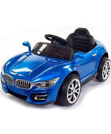 GetBest Drune Wmt 8988 Kids Ride On Car With Music And Swing - Metallic Blue