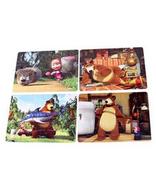 Frank Masha And the Bear Jigsaw Puzzle Multicolour Set of 4 - 63 Pieces