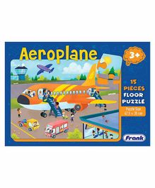 Frank Aeroplane  Floor Jigsaw Puzzle Multicolour - 15 Pieces