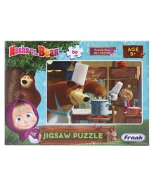 Frank Masha And The Bear Jigsaw Puzzle Multicolour - 60 Pieces