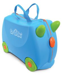 Trunki Terrance Kids Ride-On Suitcase and Carry-On Luggage - Blue