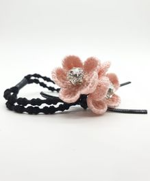Viaana Two Flower Rubber Band - Pink