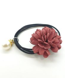 Viaana Flower Rubber Band - Maroon