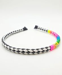 Viaana Beads Detail Hair Band - Black & White