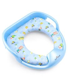 1st Step Cushioned Potty Seat With Soft Backing Vehicle Print - Blue