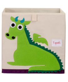 3 Sprouts Storage Box Dragon- Green & Cream