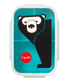 3 Sprouts Lunch Bento Box Bear- Black & Blue