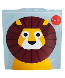 3 Sprouts Reusable Sandwich Bag Pack Of 2 Lion - Yellow Brown & Blue