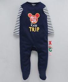 Tambourine Full Sleeves Disney Road Trip Print Romper - Navy Blue