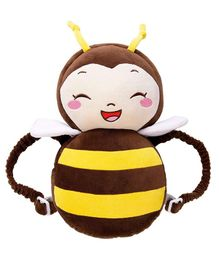 Syga Head & Back Supporter Honey Bee Pillow - Brown Yellow