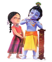 Sticker Bazaar Little Krishna With Radha Sticker Cut Out - Multicolour