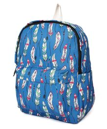 Kids On Board Feather Print Bag - Blue