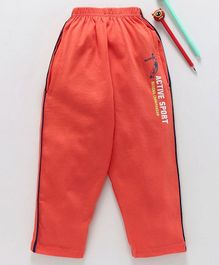 Taeko Full Length Track Pant Active Sports Print - Orange