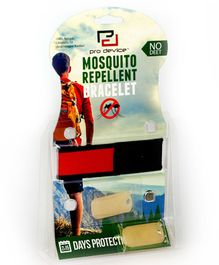 Pro Device Mosquito Repellent Wristband - Red Black