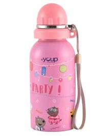 Youp Stainless Steel Water Bottle Peppa Pig Print Pink - 500 ml