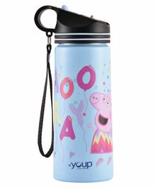 Youp Stainless Steel Water Bottle Peppa Pig Print Blue - 750 ml