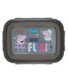 Youp Stainless Steel Lunch Box Peppa Pig Print - Black