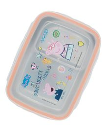 Youp Stainless Steel Lunch Box Peppa Pig Print - Peach