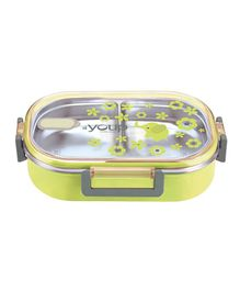 Youp Stainless Steel Lunch Box With Spoon - Green