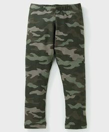 Crayonflakes Camouflage Print Full Length Leggings - Green
