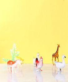 6 Birds & Animals Figure With 1 Accessory - Multicolour