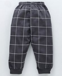 Pink Rabbit Full Length Lounge Pant Checked - Grey