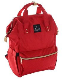 Syga Solid Multi Purpose Diaper Bag - Red