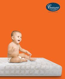 Centuary Beddy Nest Natural Baby Mattress - White