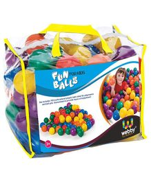Webby Plastic Balls Set of 100 - Multicolour