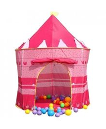 Webby Princess Castle Play Tent House - Pink