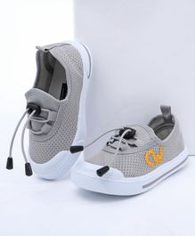 Cute Walk By Babyhug Casual Canvas Lace Up Shoes - Grey