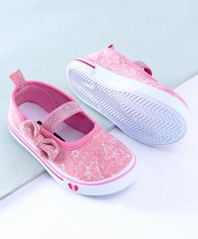 Cute Walk by Babyhug Glitter Embroidered Casual Shoes - Pink