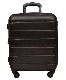 Gamme Elle Polycarbonate Hard-Sided Trolley Luggage Bag - Chocolate Brown