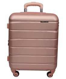 Gamme Elle Polycarbonate Hard-Sided Trolley Luggage Bag - Rose Gold