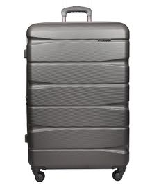 Gamme Elle ABS Polycarbonate Hard-Sided Trolley Luggage Bag - Grey