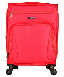 Gamme Rockland Softsided Cabin Luggage Trolley Bag - Red
