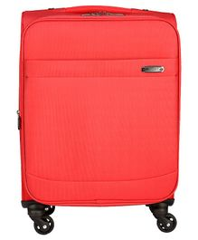 Gamme Rockland Softsided Cabin Luggage Trolley Bag - Coral