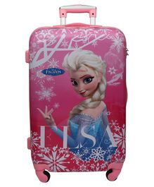 Gamme Disney Elsa Polycarbonate Trolley Luggage Bag - Pink