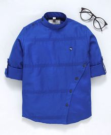 Dapper Dudes Solid Full Sleeves Shirt - Blue