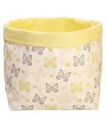Kadambaby Toy Storage Bin Butterfly Print - Yellow