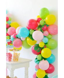 Balloon Junction Pastel Colour Balloons Multicolour - 50 Pieces