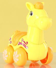Horse Shaped Wind Up Toy - Yellow